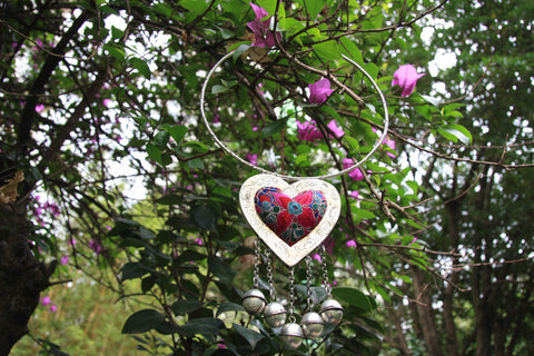 Hmong Handmade Heart Shaped Pendant and Choker