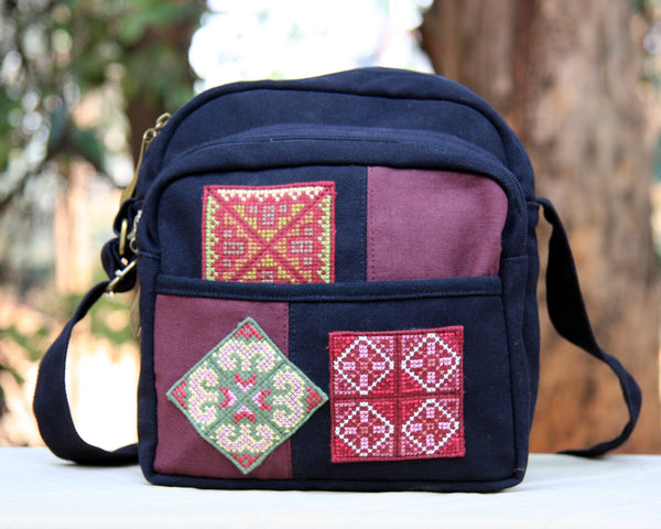 Hmong Handmade Cross-Stitch Mini Shoulder Bag