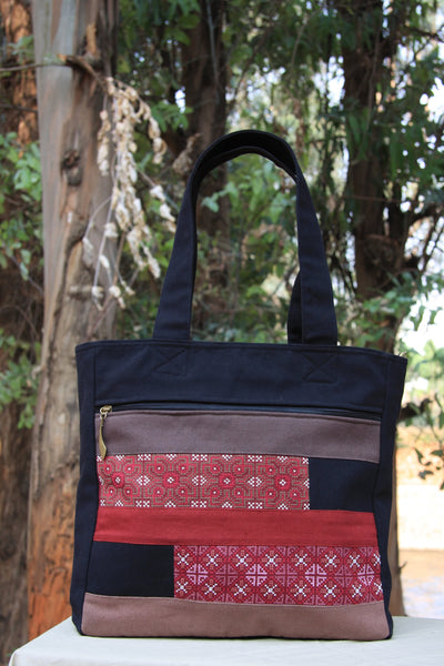 Hmong Handmade Cross-Stitch Red Purse