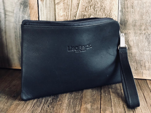 VANNIE Wallet/Clutch Wristlet - Leather