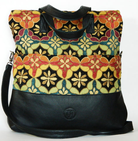 Newport Coast Leather Tote/Crossbody Convertible (More Color/Fabric Options Available)
