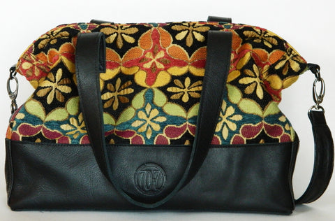 Crystal Cove Leather Tote/Crossbody (More Color/Fabric Options Available)