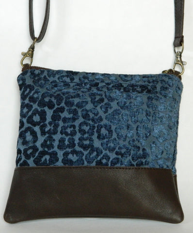 Del Mar Leather Crossbody/Small Day Clutch (More Color/Fabric Options Available)