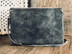 LOUIE Laptop Crossbody/Clutch - Leather