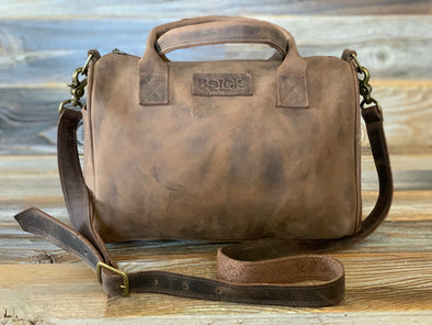 LOVE Barrel Satchel - Leather
