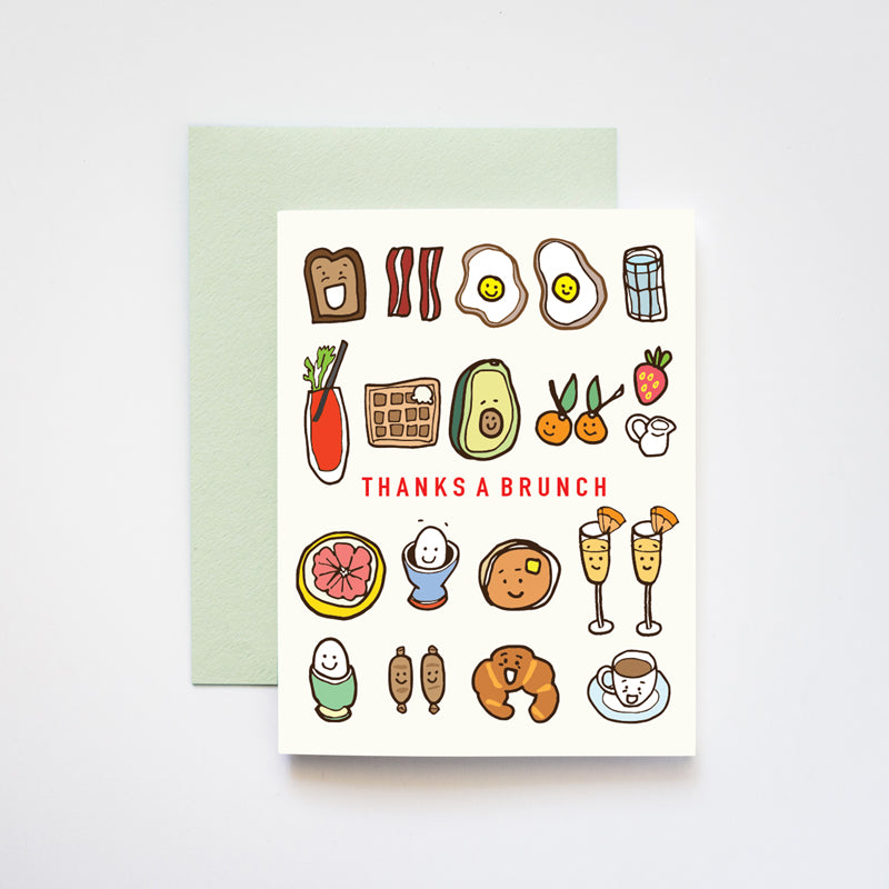 ilootpaperie - Thanks a Brunch Breakfast and Lunch Greeting Card