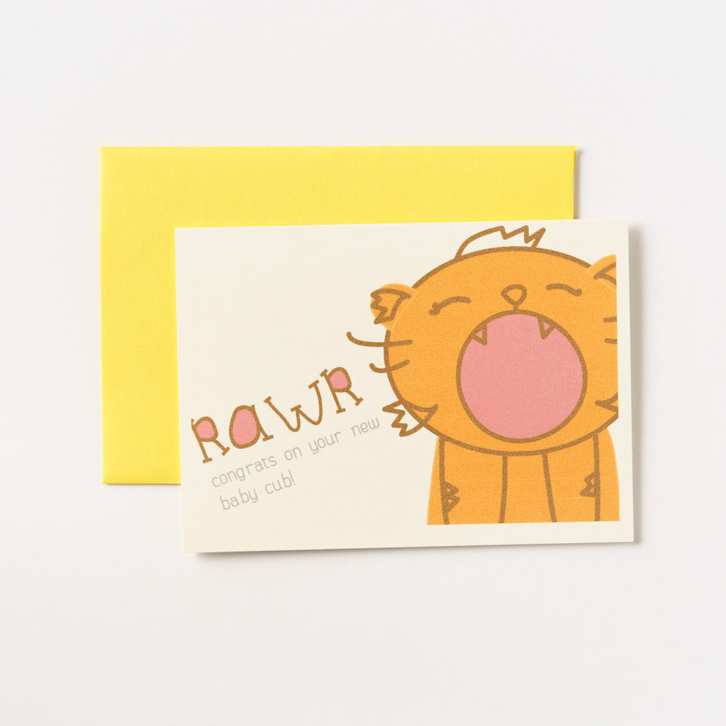 ilootpaperie - Congratulations Baby Cub Greeting Card