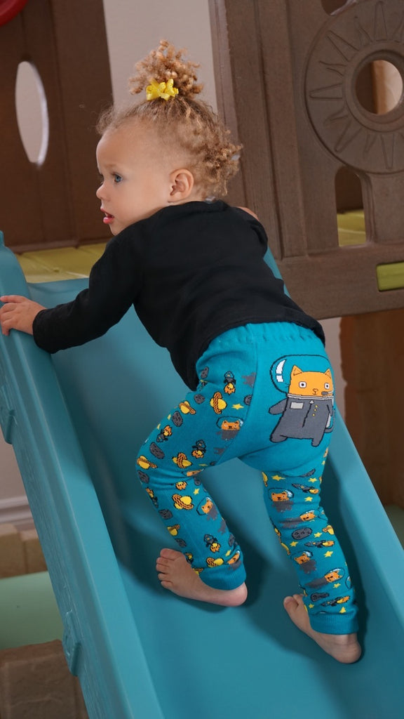 Doodle Pants - Astro Cat Cotton Leggings