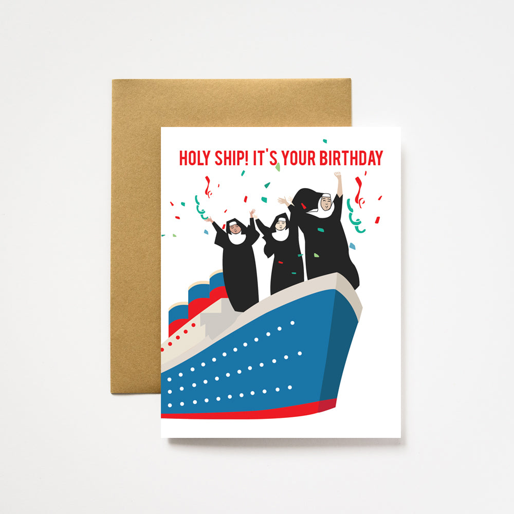 ilootpaperie - Holy Ship Birthday Greeting Card