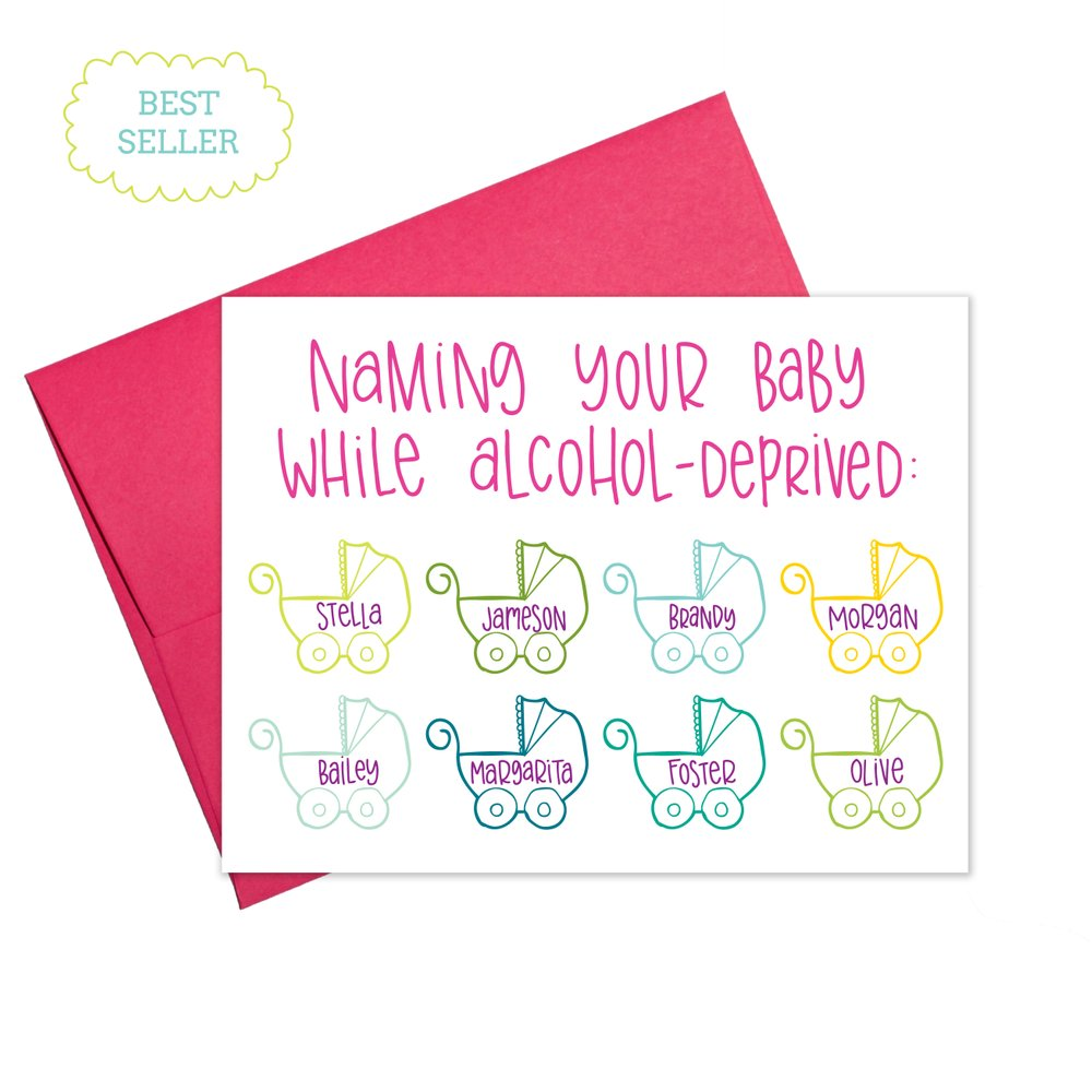Colette Paperie - Alcoholic Baby Names Card