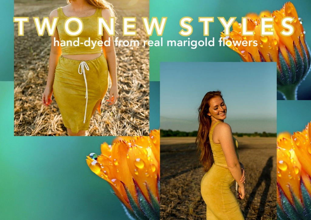 natural tie dye from marigolds