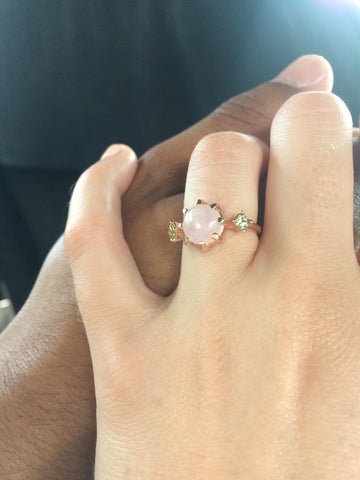 28e6195f8 ^My husband and I went to design my engagement ring at a custom design shop  in Charlotte, NC.