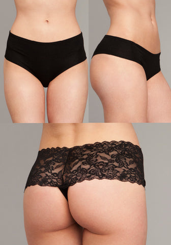Three Pair Panty Pack - Lace and Bamboo Panties
