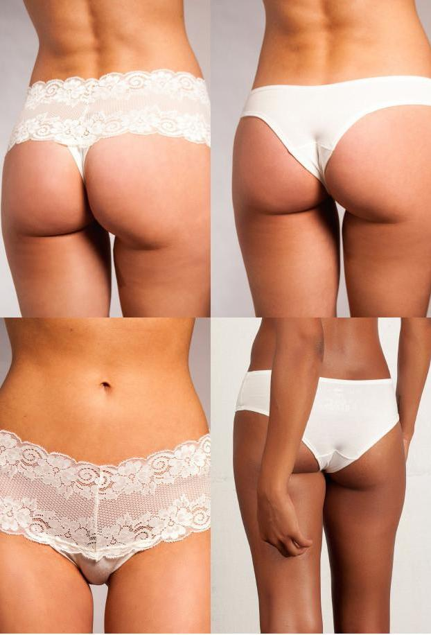 Four Pair Panty Pack - Lace and Bamboo Panties