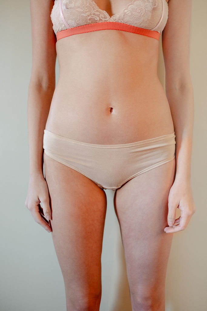 Classic Bamboo Boyshort Panty in Blush - The Kyle