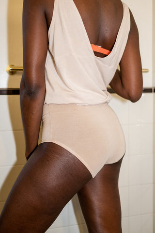 High-Rise Retro Brief in Blush - The Bonnie