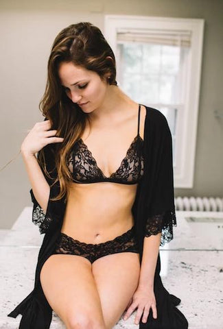 The Molly - Luxe Lace Bralette in Black