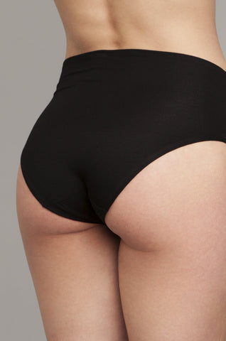 {Pre-Order, 6-8 weeks to ship} The Bonnie - High-Rise Retro Brief in Black