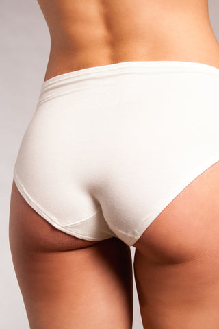 The Bonnie - High-Rise Retro Brief in Ivory