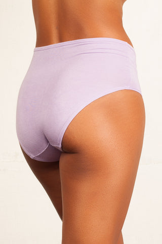 The Bonnie - Lavender High-Rise Retro Brief