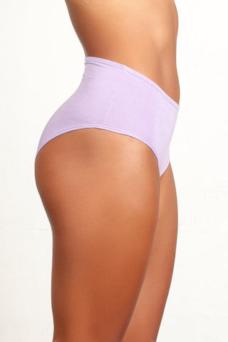 High-Rise Retro Brief in Lavender - The Bonnie