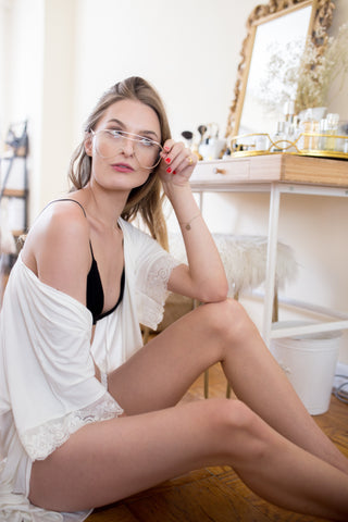 Bamboo Robe + Bamboo Panty in Ivory