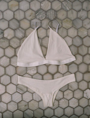 The Hendricks - Bamboo Bralette in Ivory