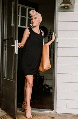 The Anna - Day or Night Shift Dress in Black