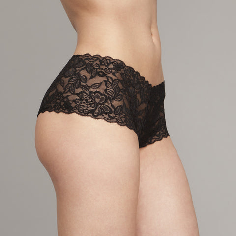 The Kaydee - Wide Lace Brazilian in Black