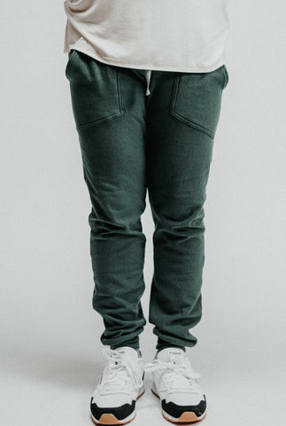 Tencel and Organic Cotton Jogger - in Pine Green