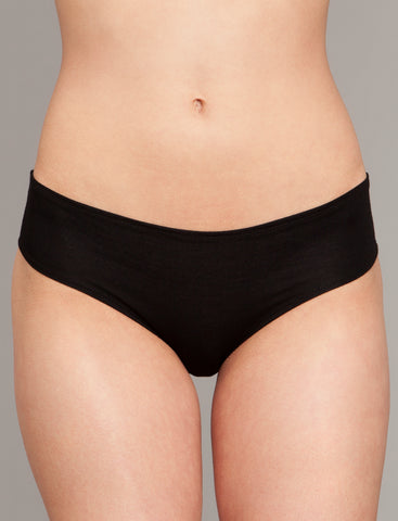Modest Bikini Panty in Black - The Mimi
