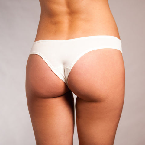 {Pre-Order, 6-8 weeks to ship} The Pamela - Cheeky Brazilian in Ivory