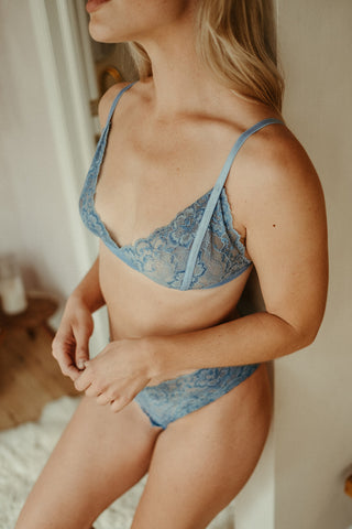 Lace Bralette in Indigo - The Molly