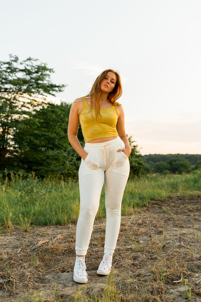 Lightweight Bamboo Jogger in Ivory