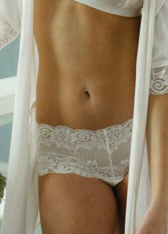 Wide Lace Brazilian in Ivory - The Kaydee