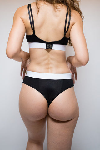 Wide Band Cheeky Brazilian in Black Modal