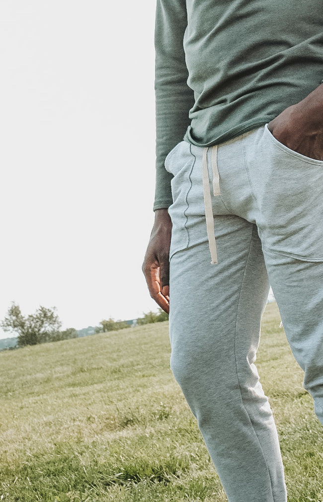 Tencel and Organic Cotton Jogger Unisex - in Heather Grey