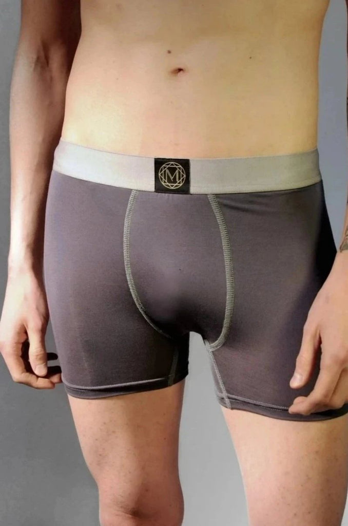 Second Skin Modal Boxer Brief - in Grey