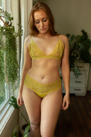 Lace Bralette in Marigold - The Molly
