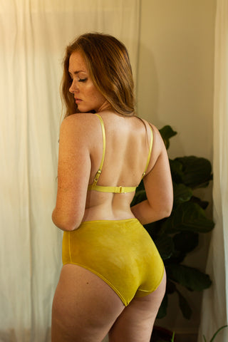 Bamboo Brief in Hand Dyed Marigold - The Bonnie