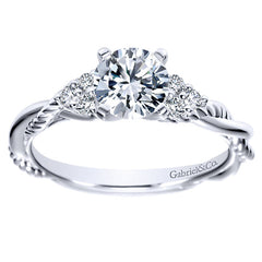Criss-Cross Rolled Diamond Engagement Ring