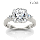 Engagement Ring with Peek-a-boo Diamond