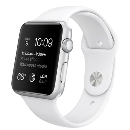 Apple Watch Silver Aluminum Case with White Sport Band: $349