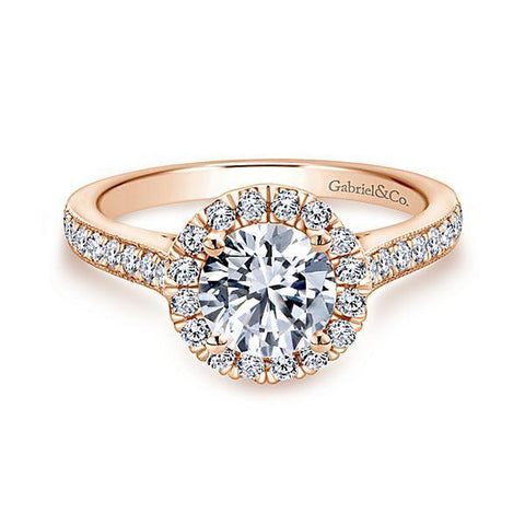 All About Carats Rose Gold Round Diamond Engagement Ring