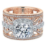 Sizzling Stacked Engagement Ring