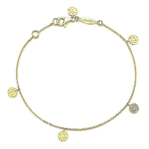 Valentine's Day Gift Ideas - Bracelet with Gold and Diamond Stations