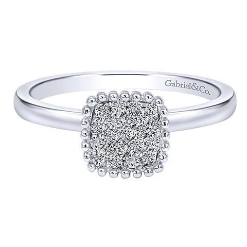Smart Ways to Get a Bigger Diamond Engagement Ring- Diamond Cluster Engagement Ring