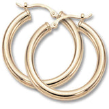Carla Corp Medium Gold Hoop Earrings
