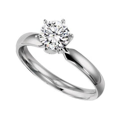 2018 Diamond Engagement Ring Trends Simple Solitaire