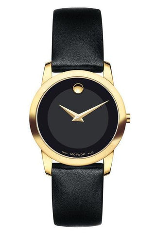 Valentine's Day Gift Ideas - Classic Movado Museum Watch in black
